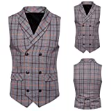 SMALLE ◕‿◕ Clearance,Men Plaid Button Casual