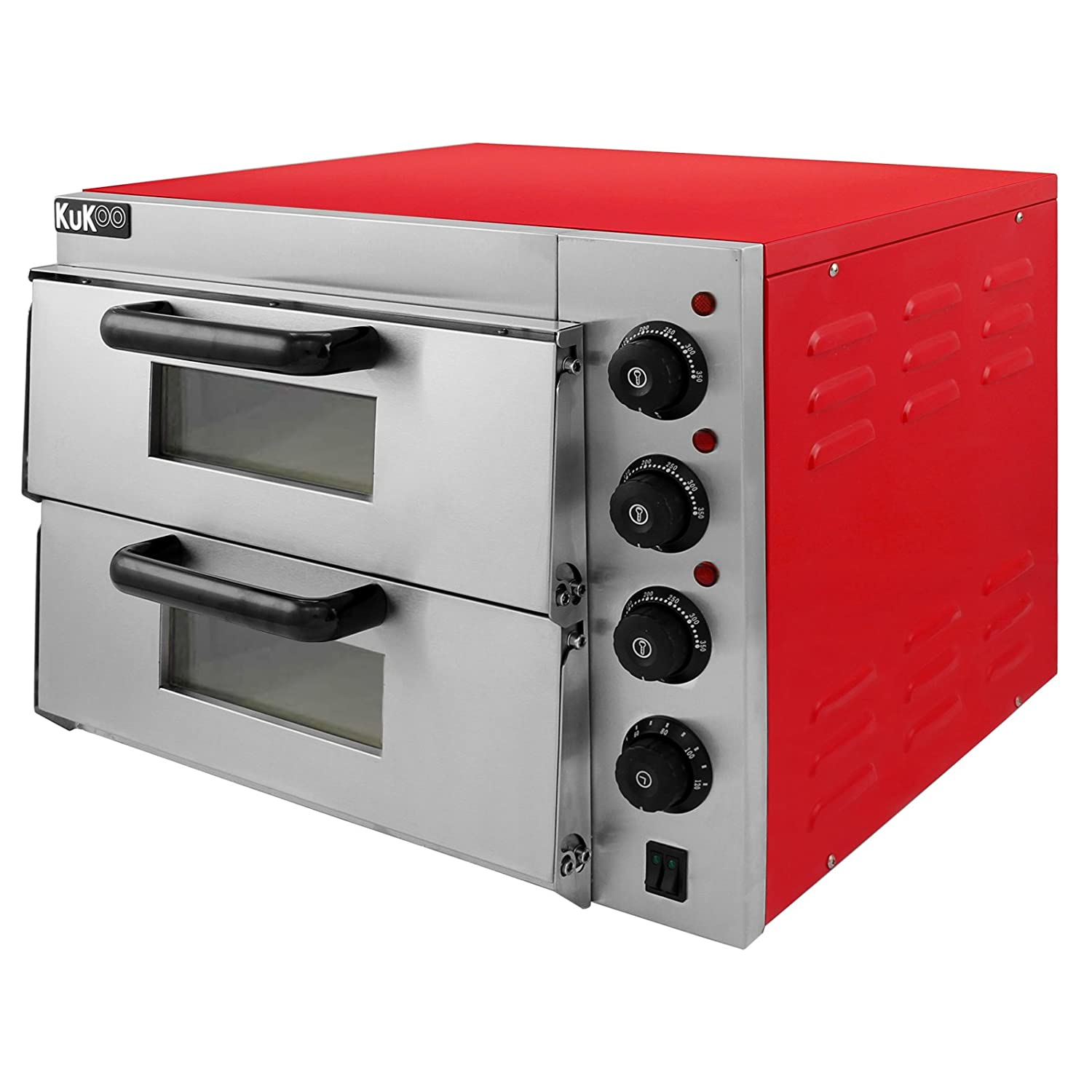 electric pizza oven with audible timer u0026 twin deck firebrick commercial baking u0026 grilling amazoncouk large appliances