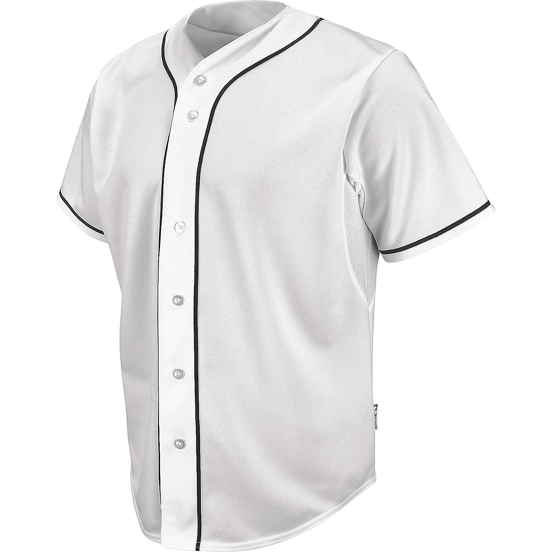"3fb74c5c8e6 Amazon.com   Majestic White Pro Style Cool Base HDâ"" Jersey with Black  Piping   Baseball And Softball Jerseys   Sports   Outdoors"