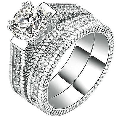 Review FENDINA 2pcs Womens Wedding