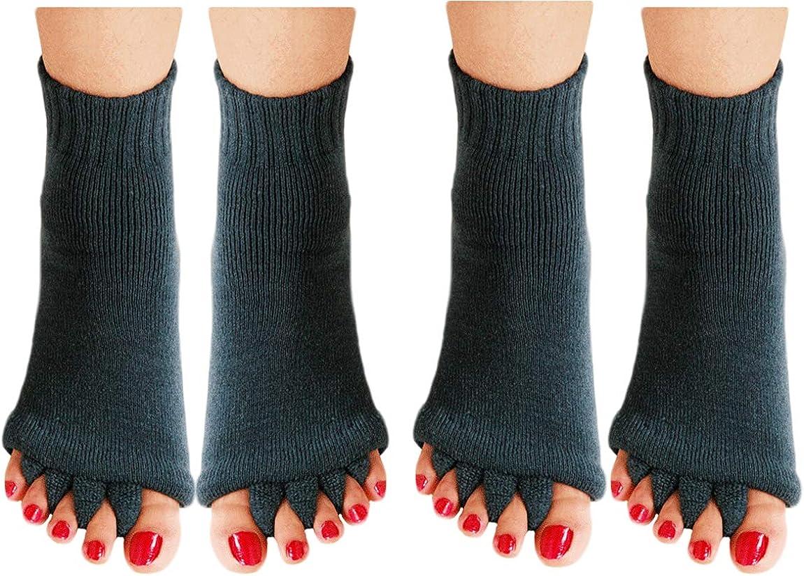 CuteSocks Toe Separator Yoga Gym Sports Massage Foot Alignment Socks 2 Pairs