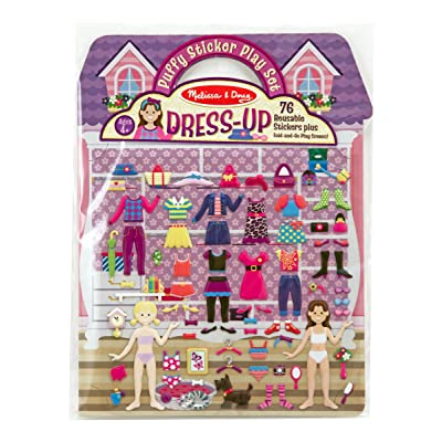 Melissa & Doug Puffy Sticker Play Set: Dress-Up: Melissa & Doug: Toys & Games
