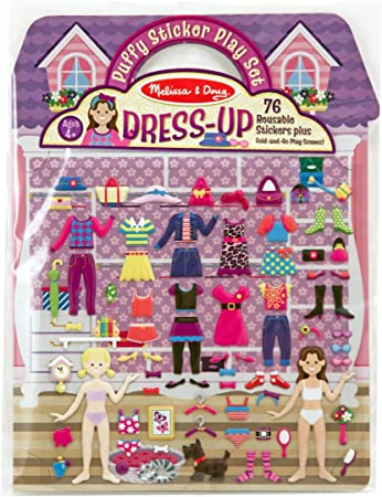 Melissa & Doug Puffy Sticker Play Set, Dress-up (Reusable Activity Book,76 Stickers, Great for Travel, Great Gift for Girls and Boys - Best for 4, 5, 6, 7 and 8 Year Olds)