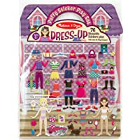 Melissa & Doug Puffy Sticker Activity Book: Dress-Up - 76 Reusable Stickers
