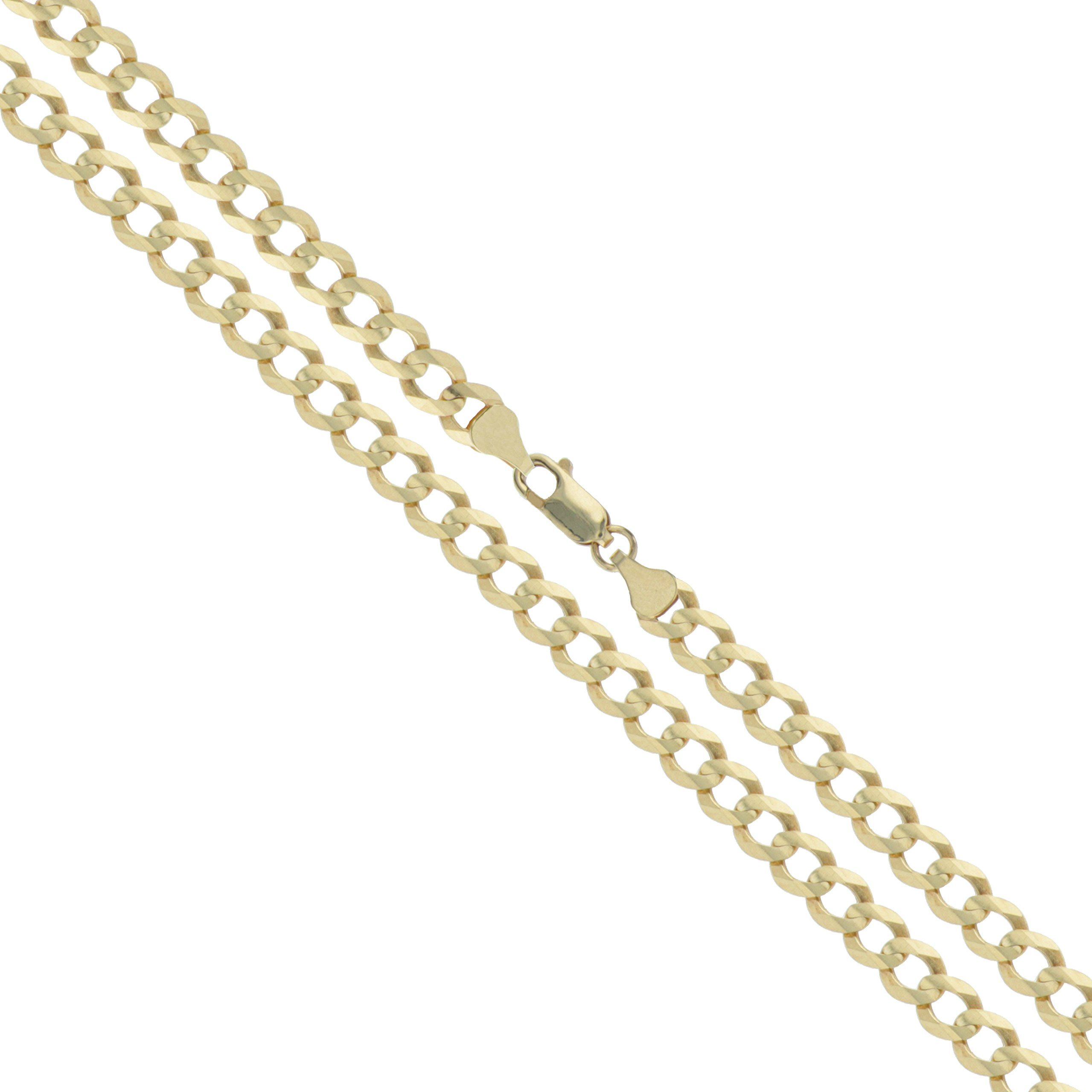 10k Yellow Gold Solid Curb Chain 2.5mm Link Necklace 20''