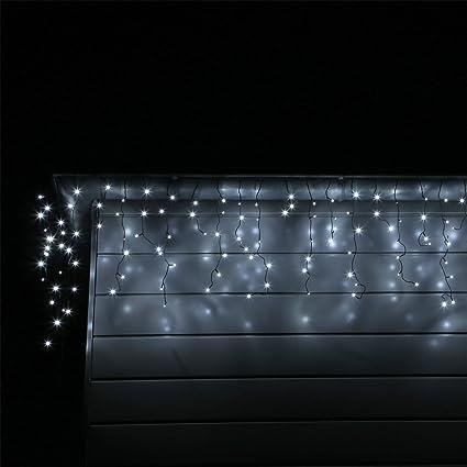 Luci Natale Led Esterno.Tenda Luce Led Colore Bianco Freddo Esterno Tenda Luminosa A Cascata Illuminazione Natale 12 Metri 600 Lampadine Led Per Giardino Terrazza Balcone