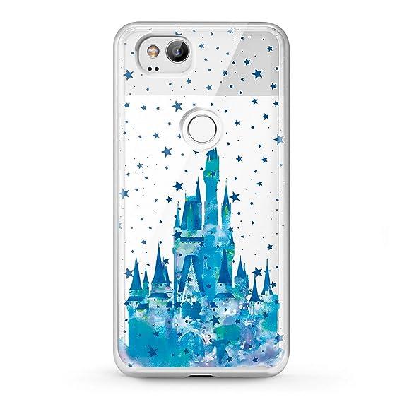 meet 40395 55b7d Lex Altern Google Pixel Case XL 2 Castle TPU Clear Disney Flexible Pattern  Cinderella Phone Coverage Stars Transparent Design Blue Soft Girly Teen ...