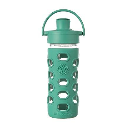 Lifefactory – Botella de Cristal con Active con Tapa Cap, Verde, ...