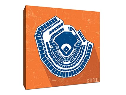 Citi Field Seating Map Mlb Seating Map 16x16 Gallery Wrapped Canvas