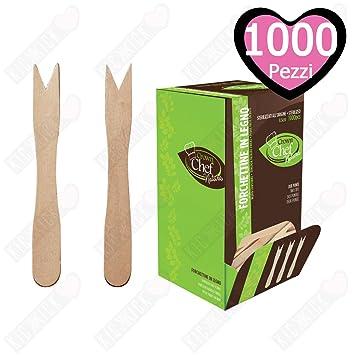 Crown Chef - Tenedores de madera, 8,5 cm, 1000 unidades: Amazon.es: Hogar