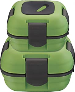 Lunch Box ~ Pinnacle Insulated Leak Proof Lunch Box for Adults and Kids - Thermal Lunch Container With NEW Heat Release Valve ~Set of 2/2 Sizes~ Green