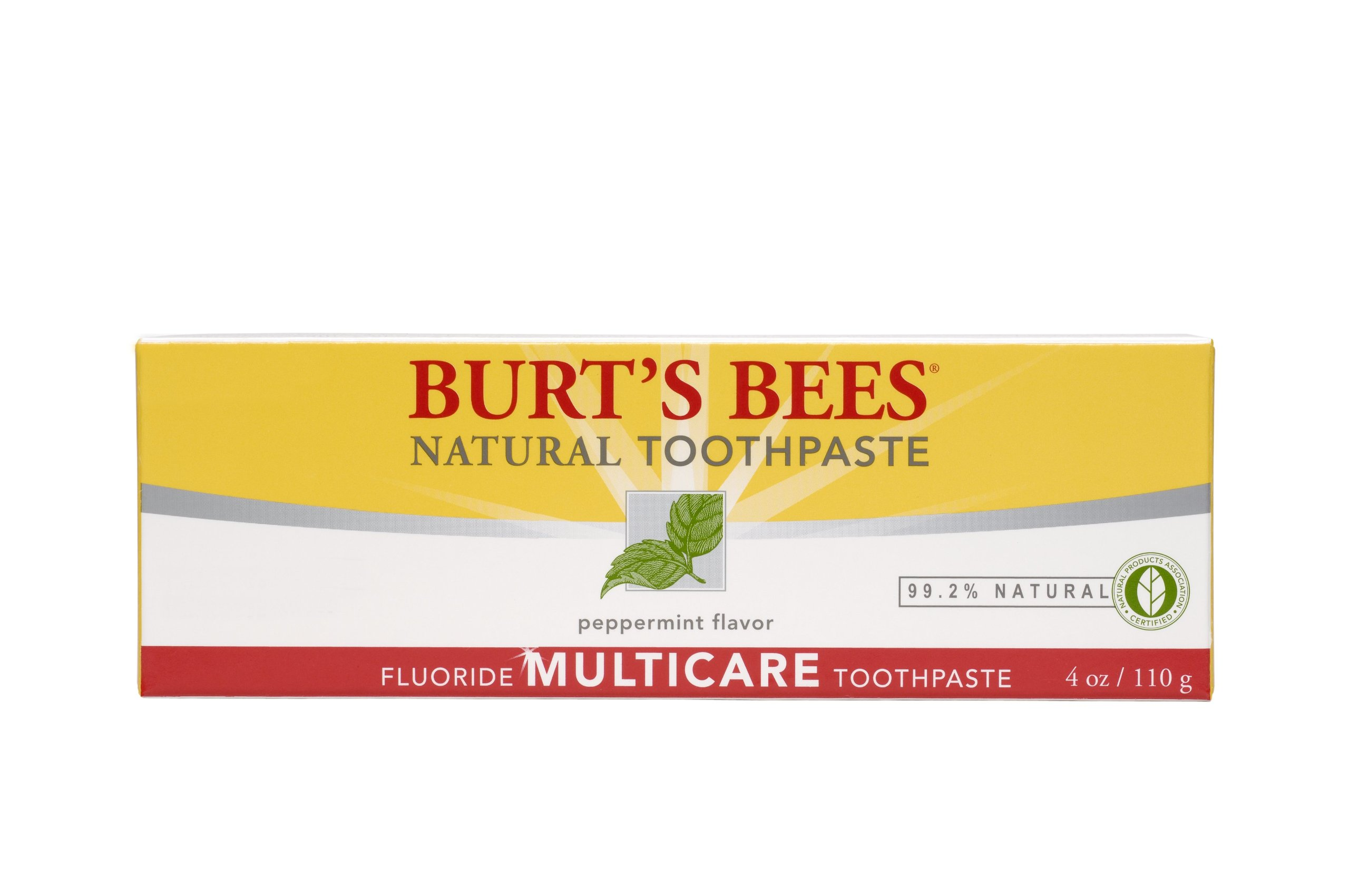 Burt's Bees Natural Toothpaste - Multicare with Fluoride, 4 Ounces (Pack of 4)