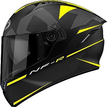 KYT casco Moto Integral nf-r, Logos Matt Yellow, talla S 55 –