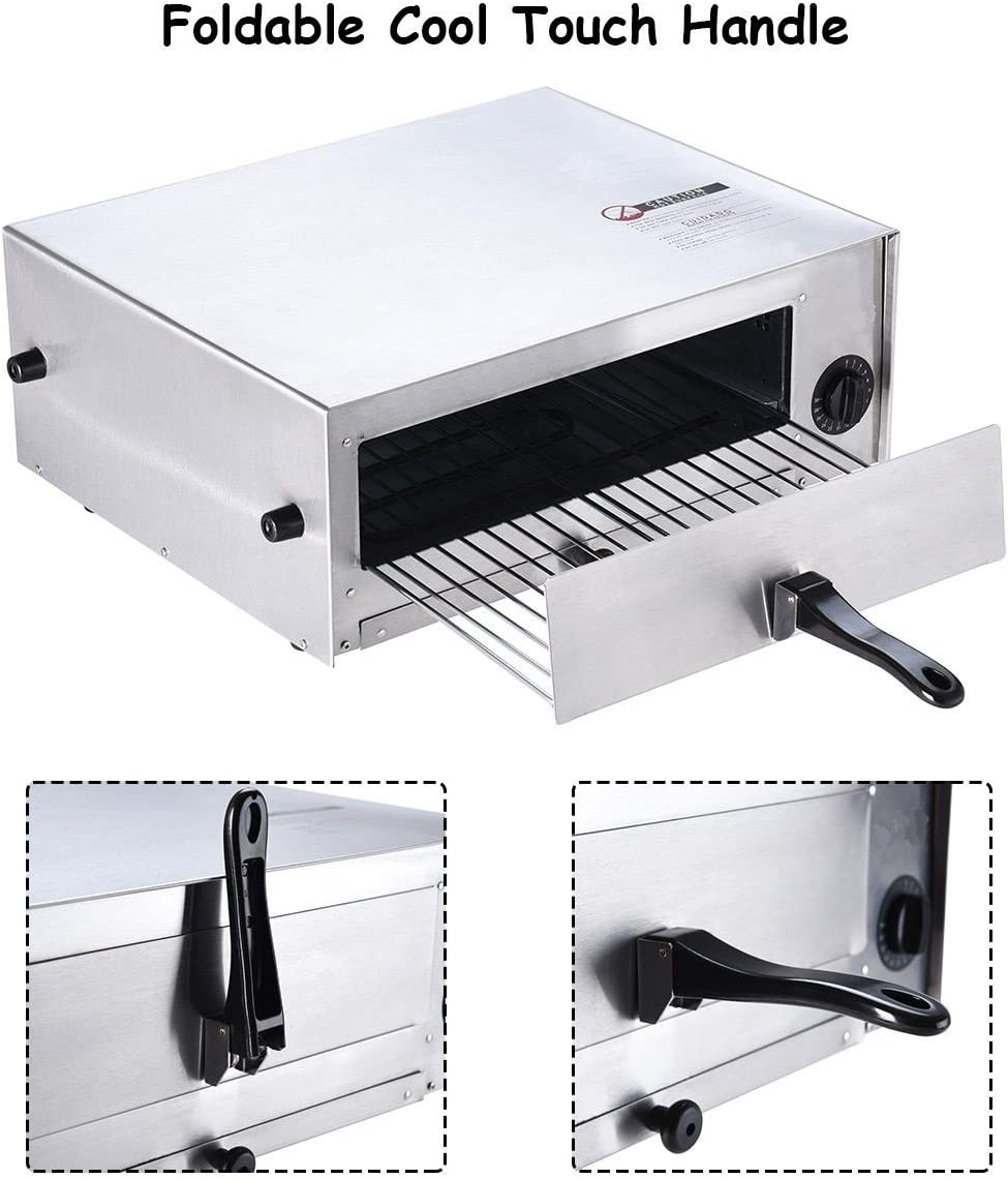 Electric Oven Stainless Steel Counter Top Concession, Home Kitchen, Pizza Snack Pan Bake Commercial