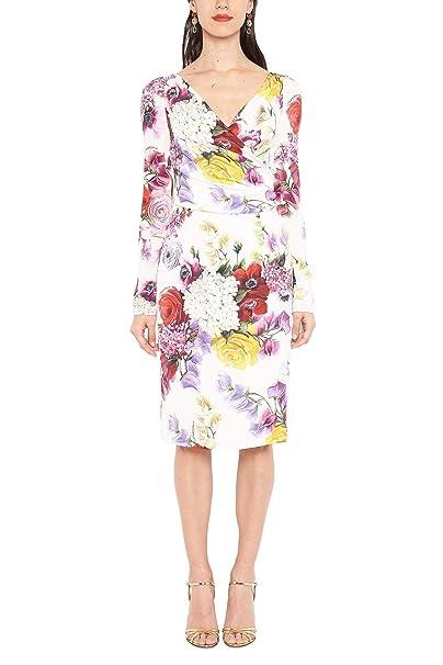 Dolce E Gabbana Vestito Donna F6D3UTFSAX3HAW86 Seta Bianco  Amazon.it   Abbigliamento 4744824db0e