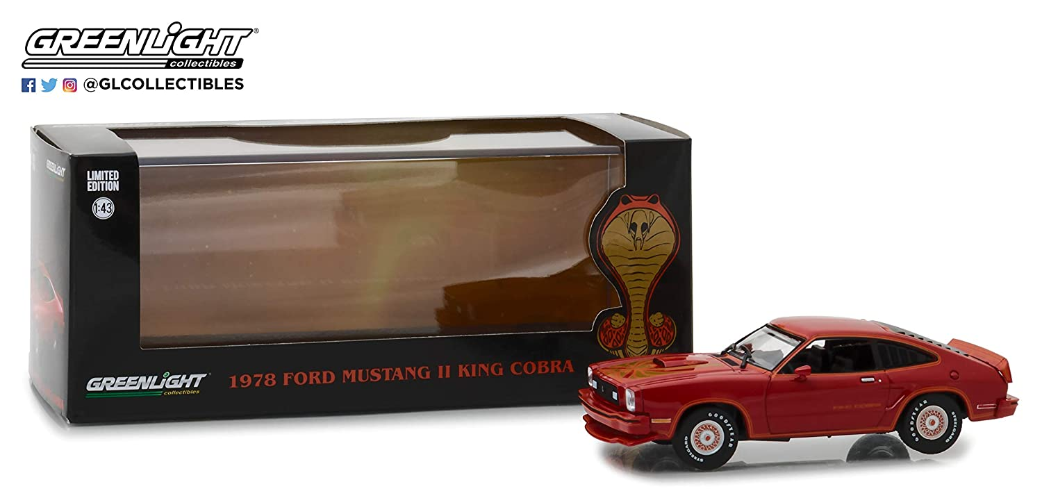 1 43 1978 Ford Mustang II King Cobra Red Black 86321
