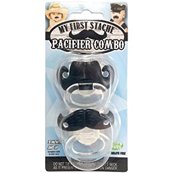 Amazon.com: Bigote Chupete 2 Pack. Billy-bob Chupete Combo: Baby