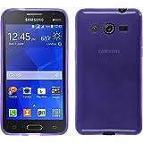 PhoneNatic Custodia Samsung Galaxy Core 2 Cover porpora trasparente Galaxy Core 2 in silicone + pellicola protettiva