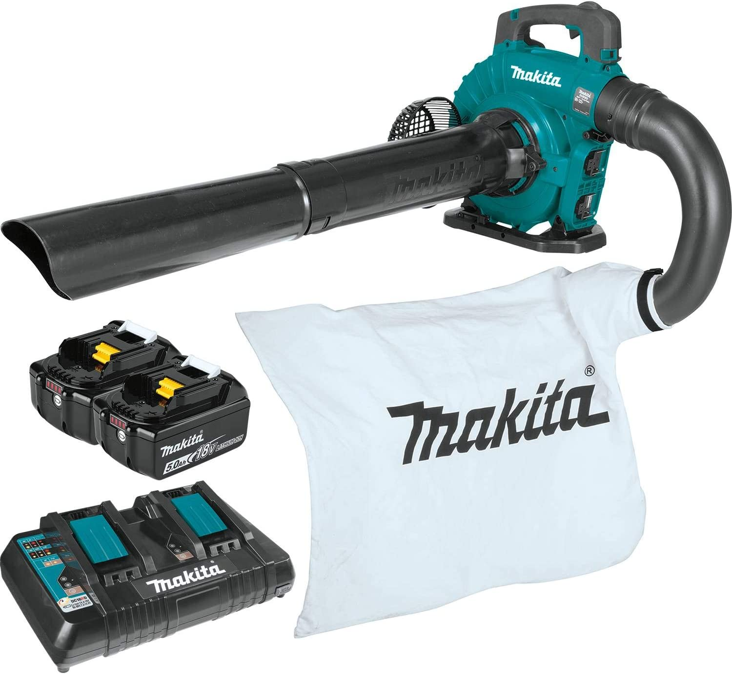 Makita XBU04PTV Lithium-Ion Brushless Cordless 18V X2 (36V) LXT Blower Vacuum Attachment Kit (5.0Ah), Teal