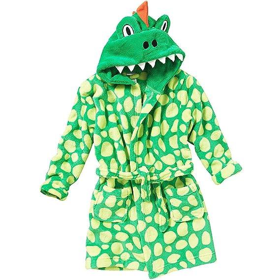 Thepyjamafactory Robe De Chambre Garcon Vert 5 6 Ans Amazon
