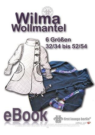Wilma Wollmantel Nähanleitung mit Schnittmuster für Mantel Jacke ...
