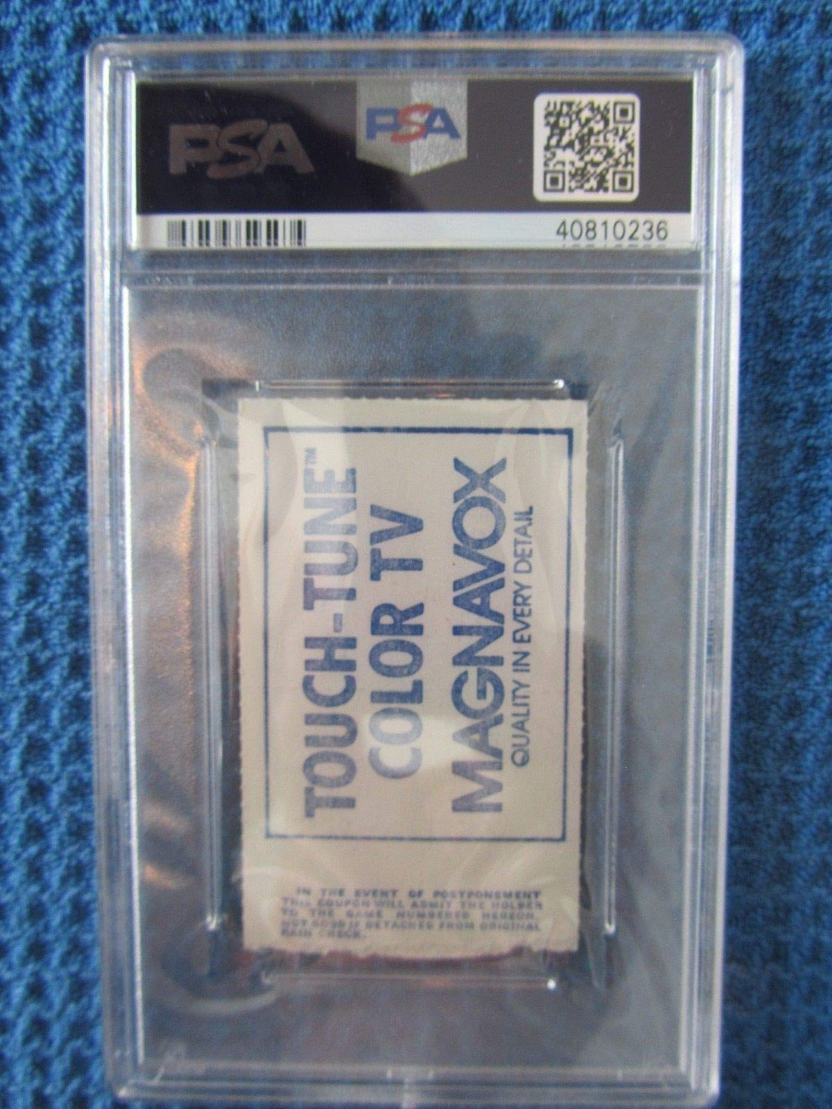 Carl Yastrzemski Autographed Signed 1979 Red Sox 3000Th Hit Ticket PSA/DNA