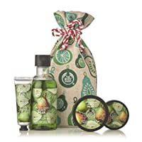 The Body Shop Juicy Pear gift Sack, Exclusive Holiday Scent, Made With Community Trade Shea Butter, 4Piece