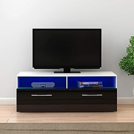 T.Mullen - Mueble de TV con 2 cajones, diseño Moderno y con Pantalla Ancha para Sala de Estar: Amazon.es: Hogar
