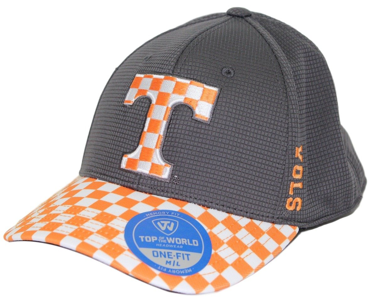 official photos 4a0c2 0d873 ... real amazon tennessee volunteers tow booster plus memory fit flex hat  checkerboard visor sports outdoors b4b2c