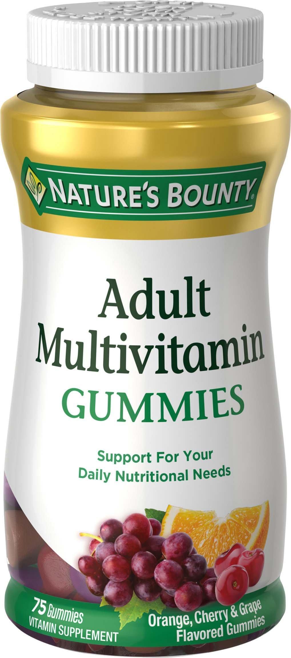 bounty gummies nature adult melatonin orange theanine cherry sleep multi package grape mg multivitamin ct complex vary natures count amazon