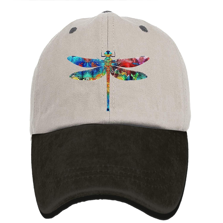 Amazon.com  Arsmt Dragonfly Denim Hat Adjustable Womens Plain Baseball Hat  Dad Cap  Clothing 28ab65a4d36