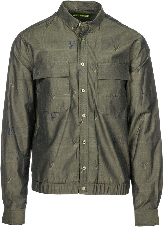 Versace Jeans Camisa Hombre Grigio 48 EU: Amazon.es: Ropa y accesorios