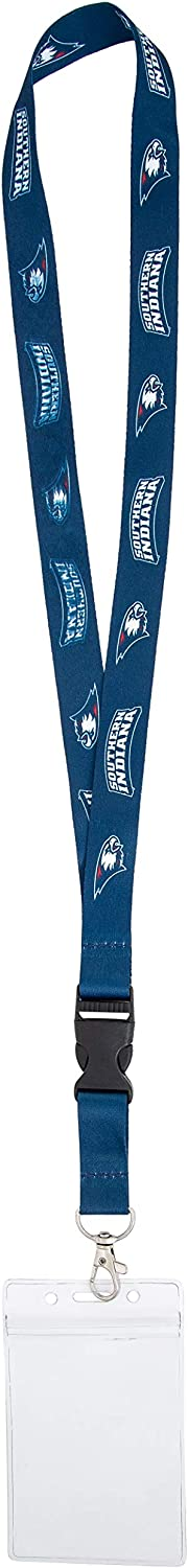 w//Pouch University of Southern Indiana USI Screaming Eagles NCAA Car Keys College ID Badge Holder Lanyard Keychain Detachable Breakaway Snap Buckle