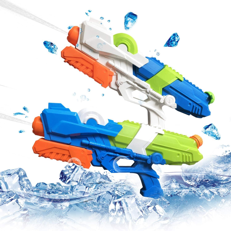 2 Pack Pistolas de Agua para niños Adultos, 10M Distancia de ...