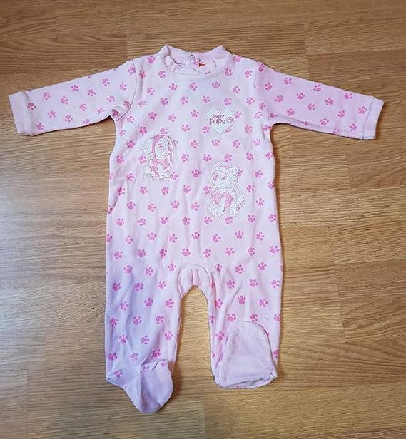 Patrulla Canina Pijama Pelele para Bebe niña Color Rosa con Bordados: Amazon.es: Ropa y accesorios