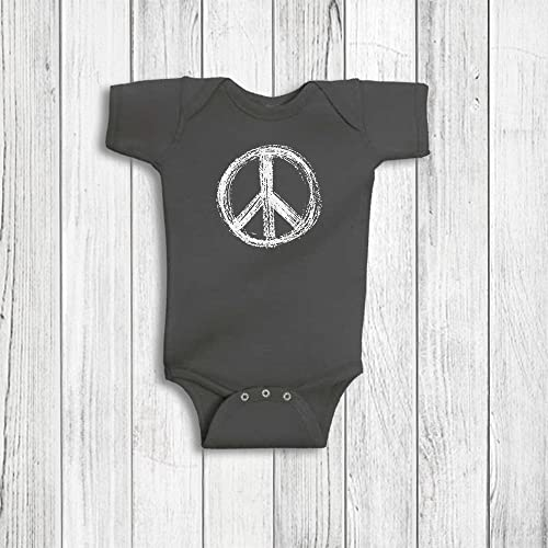 Baby Girl Boy Clothes Peace Sign Symbol Romper Rabbit Skins 3 Colors