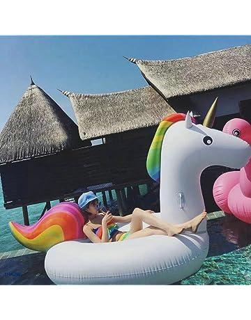 Jasonwell Unicornio Hinchable colchonetas Piscina Inflable Flotador Unicornio Piscina para Adultos y Niños Hinchables Juguete para