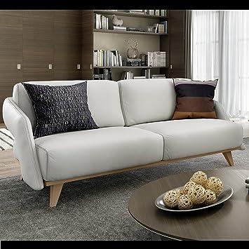 Designer Ledersofas designer ledersofa zweisitzer leder couchgarnitur holz buche
