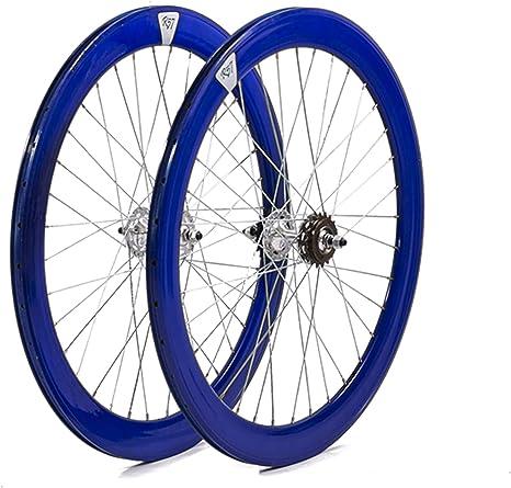 Bical Ruedas Fixie Perfil 60 (Azul): Amazon.es: Deportes y aire libre