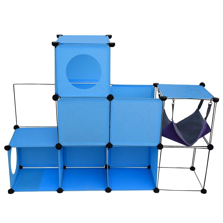 LuckyPet Juego Gato Patio de Juegos Negro Azul Plástico Metal Relajacion Gatos (Cod. LU8034): Amazon.es: Deportes y aire libre