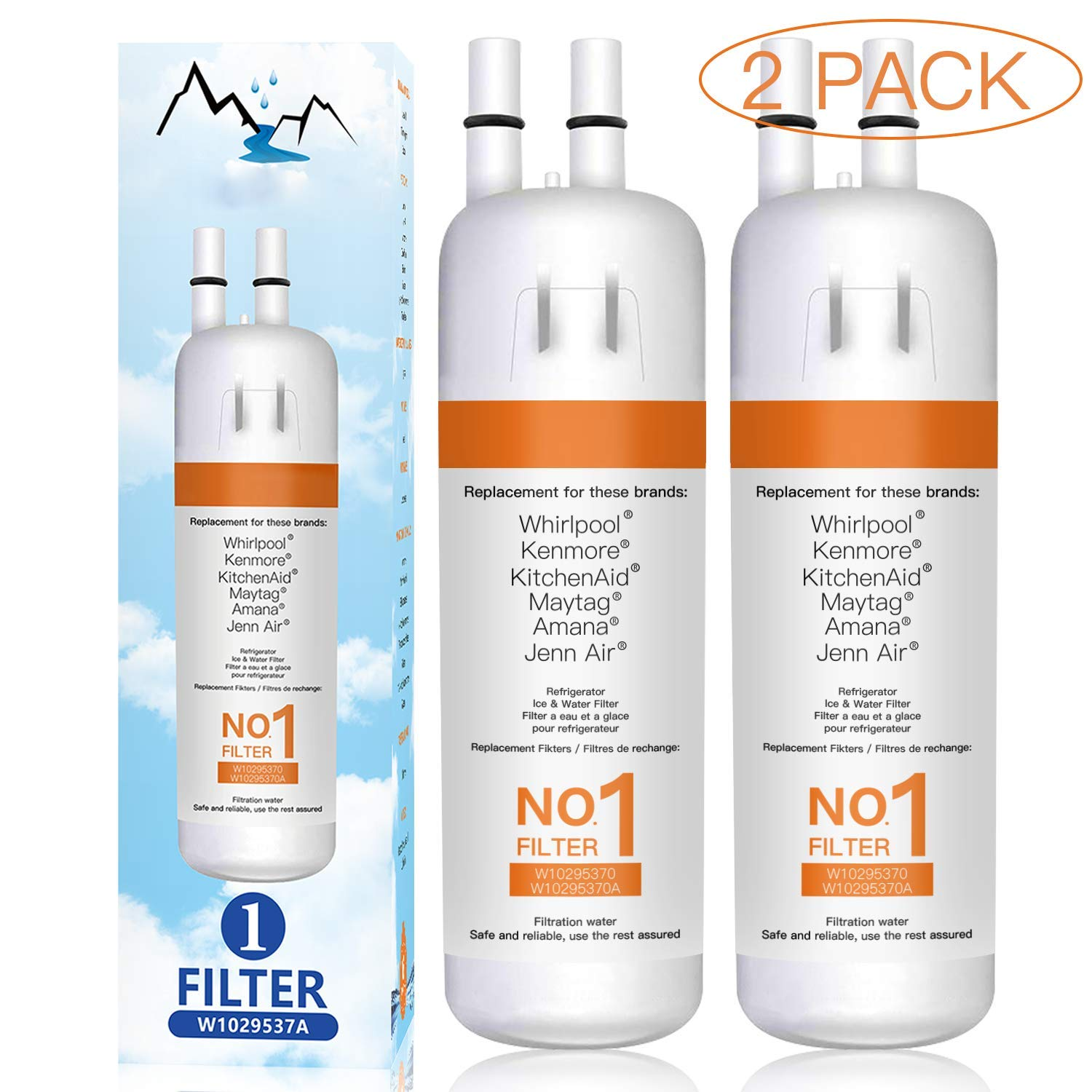 Busue 9081 Water Filter,Refrigerator Replacement, Compatible for Water Filter 1 Kenmore 9081 9930 WF1 (2 Pack)