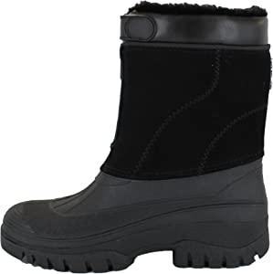GroundWork LS88 Mens Mucker Stable Yard Waterproof Winter Snow Zip Boots Wellies