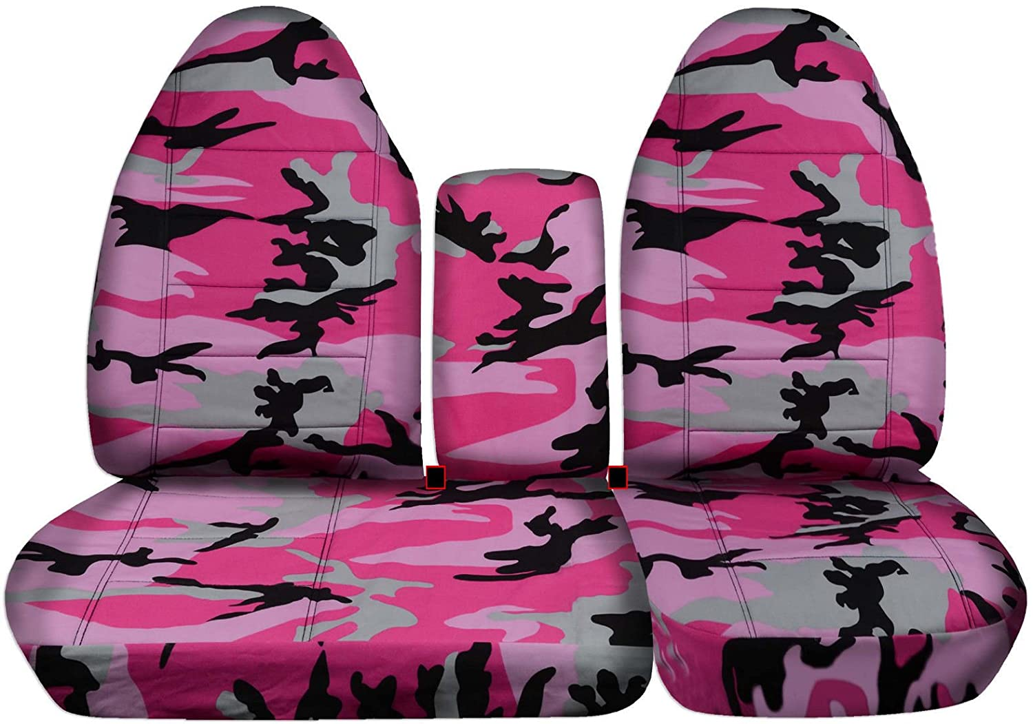 Designcovers 1997-2000 Ford F-150 Camo Truck Seat Covers (Front 40/60 Split Bench) Opening Center Console/Solid Armrest: Gray Real Tree Camouflage (16 Prints) 1998 1999 F-Series F150