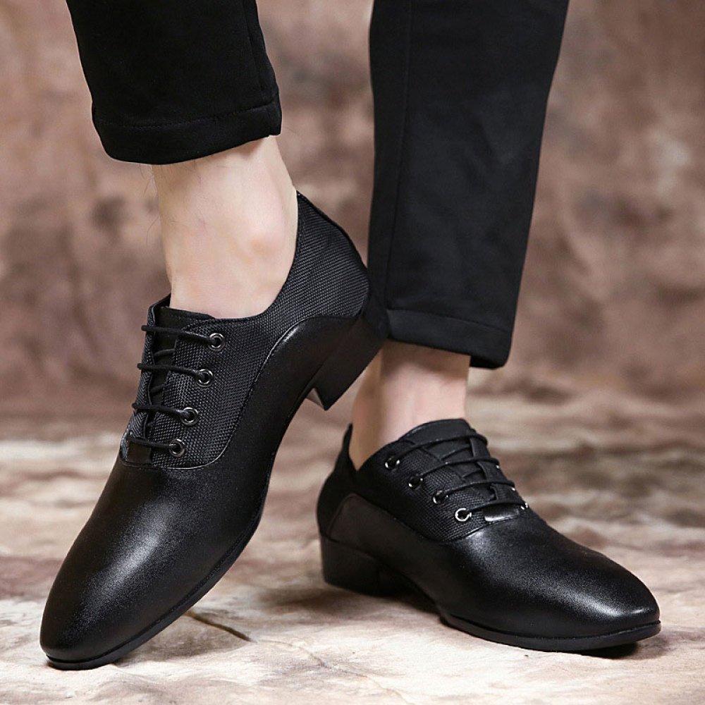 Männer Spitz Spitz Spitz Lederschuhe Spitzen-up Kleidung Schuhe Einzelne Schuhe Mode 4cf375