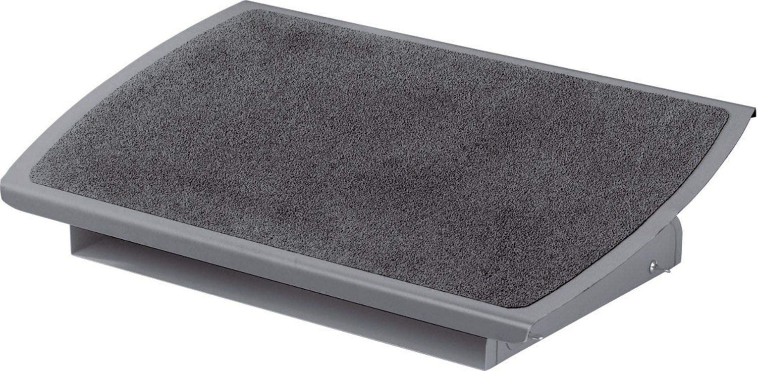3M Foot Rest, Height and Tilt Adjustable, 22 Extra Wide Platform with Safety-Walk Slip Resistant Surface Provides Ample Room for Both Feet, Heavy Duty Steel Construction, Charcoal Gray FR530CB