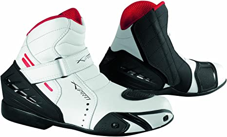 Touring Bottes Sport Moto Renforcés 40 Bottines Chaussures Homme Motard blanc PXikZu