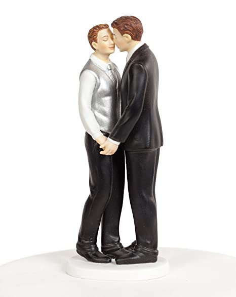 8b86a839d56 Amazon.com  Wedding Collectibles Romance Gay Wedding Cake Topper  Kitchen    Dining