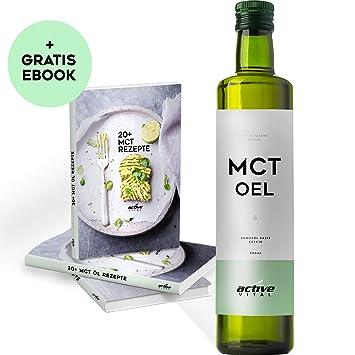 ACTIVEVITAL MCT Oil Óleo | Neutro 500ml | C8 C10 | Aceite De Coco | TRANSPARENTE