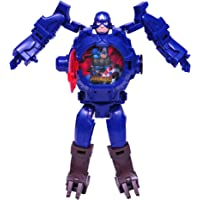 Sandbox Party Captain America Theme Transformer Inspired Robot Cum Watch with Projector (Pack of 1)