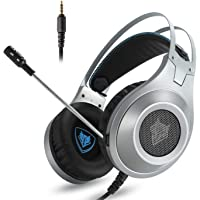 NUBWO N2 PS4 Xbox One PC Headset Gaming, Stereo Gamer Headphones with Microphone Headset Mic Computer Playstation 4 Xbox 1 Game - Silver